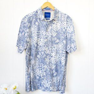Tommy Bahama Floral Silk Blend Camp Shirt